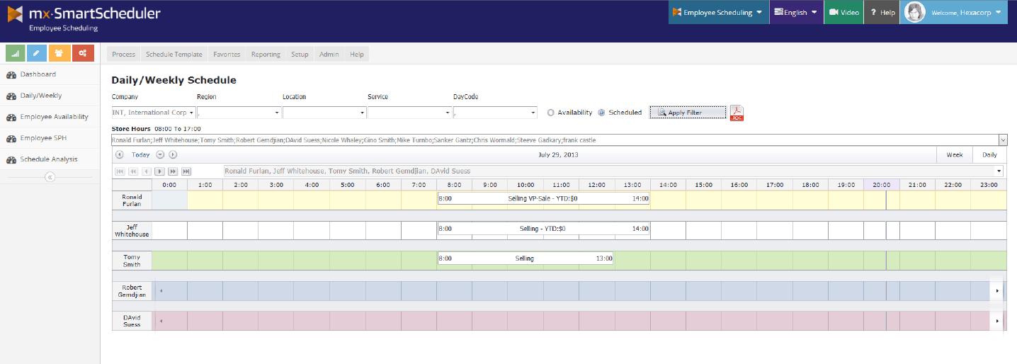 Screenshot MX-SmartScheduler